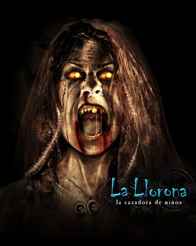 The Terrifying Mexican Legend of La Llorona Returns to Universal Studios Hollywood in the Reimagined Halloween Horror Nights maze, 'La Llorona: Cazadora de Ninos.'  (PRNewsFoto/Universal Studios Hollywood)