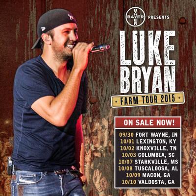 Bayer Presents 2015 Luke Bryan Farm Tour from September 30 through October 10