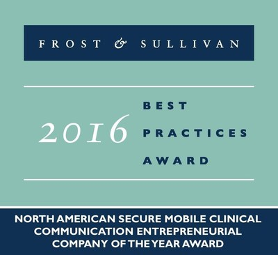 Mobile Heartbeat Receives 2016 North American Secure Mobile Clinical Communication Entrepreneurial Company of the Year Award