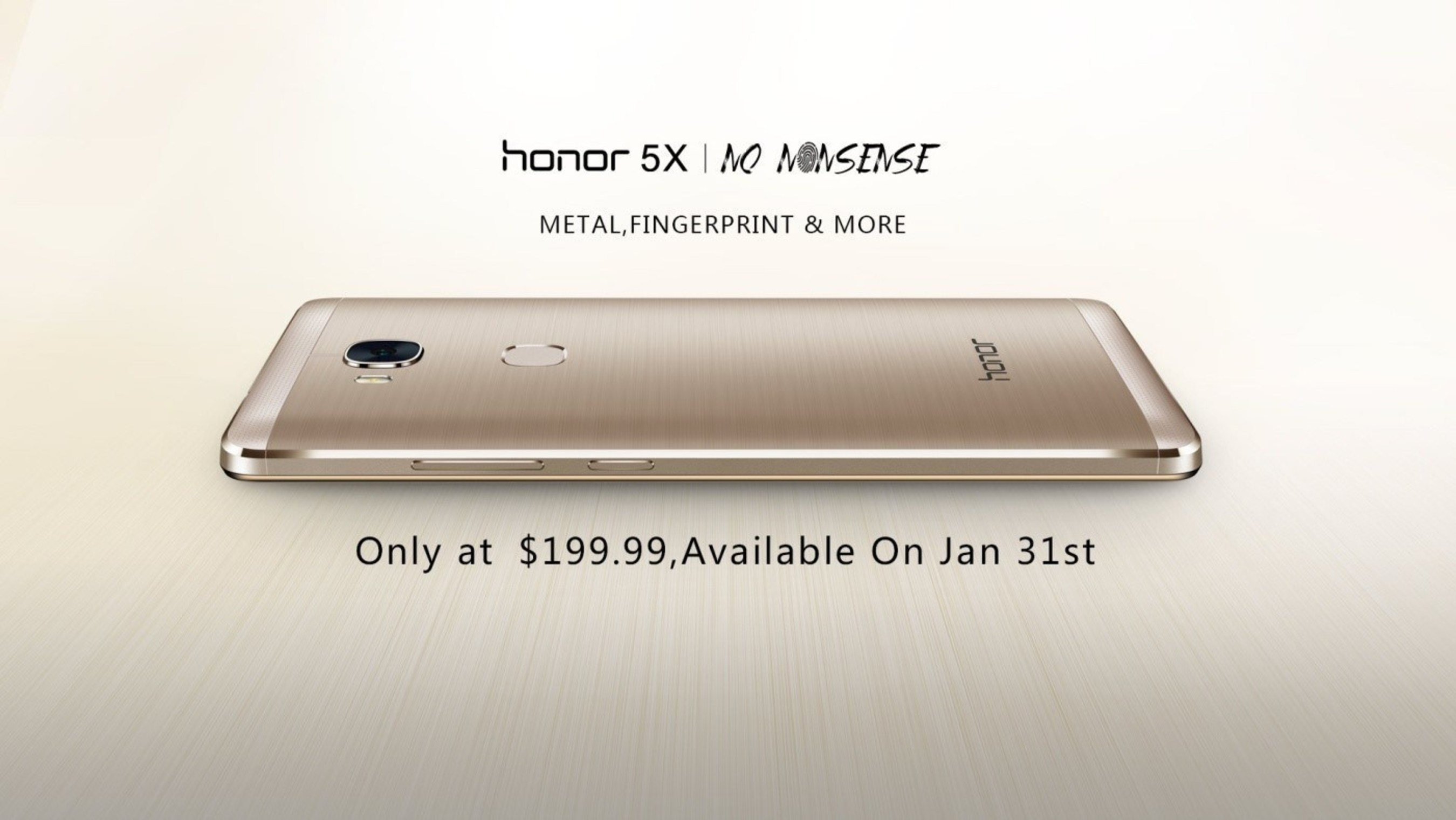 Priced at $199 USD, feature-rich honor 5X offers all-metal design and advanced fingerprint scanner