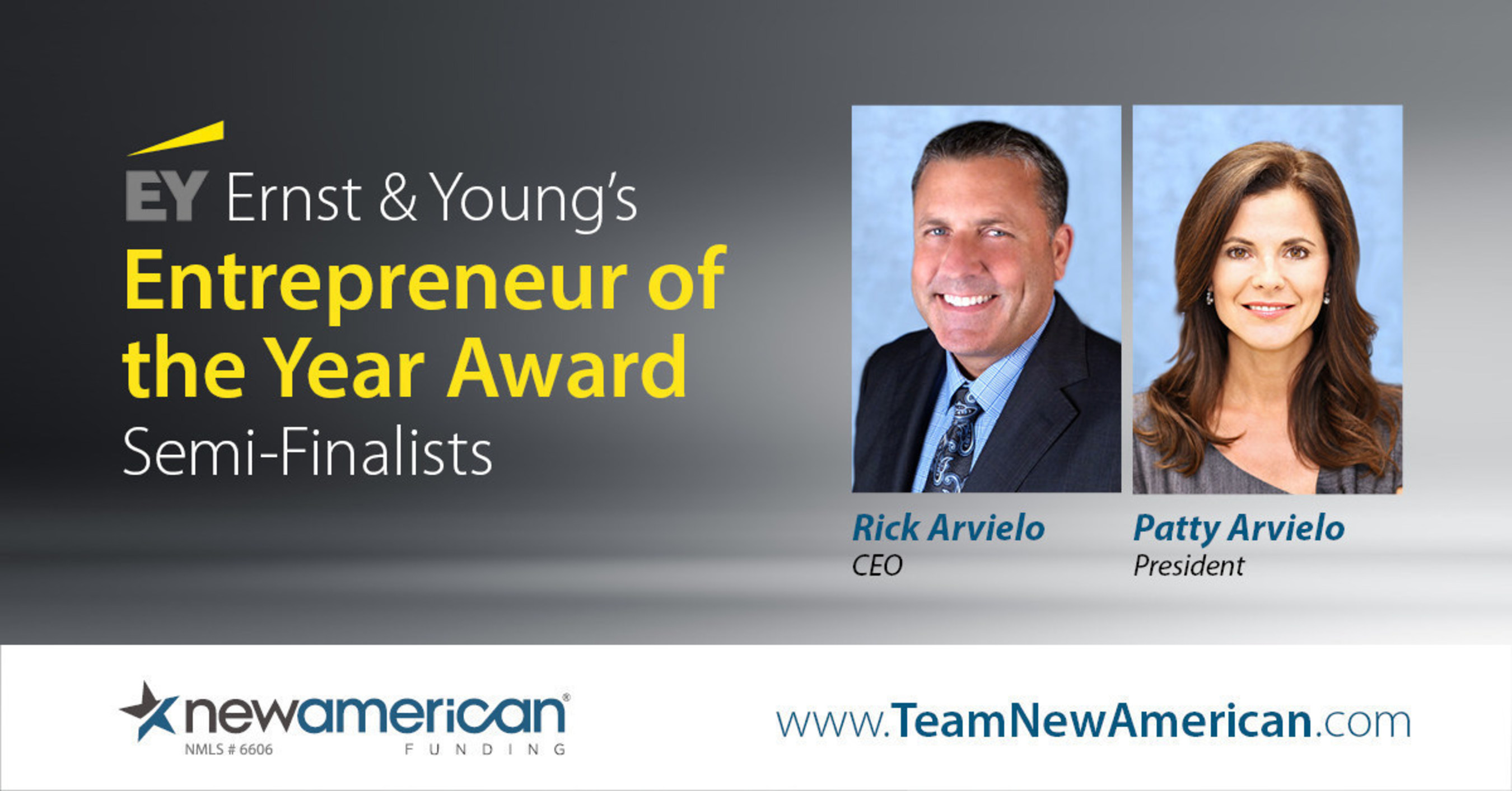 EY Names Rick and Patty Arvielo Entrepreneur of the Year Semifinalists, Orange County Region