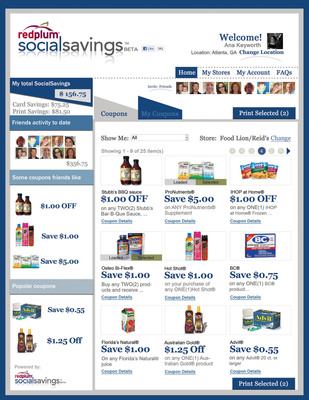 Like the app - love the savings: The RedPlum Social Savings™ App brings valuable offers directly into the social sphere where Facebook® users can readily access and share savings on favorite brands, new products and everyday grocery items! The unique integration of Valassis' secure, yet consumer-friendly, technology for printable and downloadable coupons blends seamlessly with Facebook's sharing features, such as OpenGraph, to drive viral brand impressions and friend referrals!
