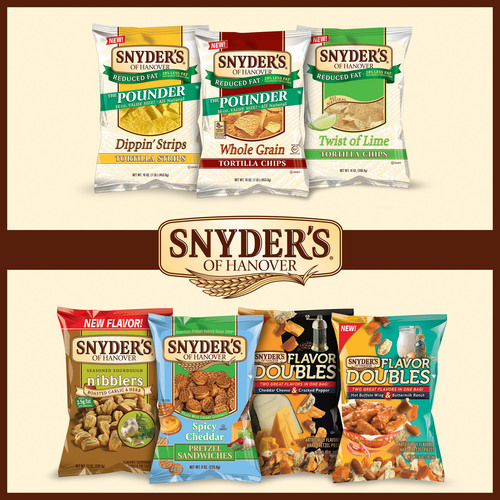 Snyder's of Hanover Continues Flavor Tradition with Seven New Products.  (PRNewsFoto/Snyder's of ...
