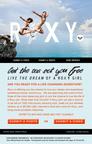 Site de inscricao ao concurso da ROXY Deixe o Mar Liberta-la. // Sitio para ingreso al concurso Let the Sea Set You Free de ROXY.   (PRNewsFoto/Roxy)