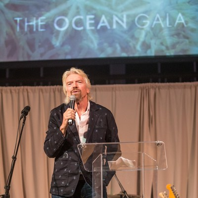 Sir Richard Branson delivering the keynote address at last year's inaugural Ocean Gala. Photo credit: Ruprecht Studios.
