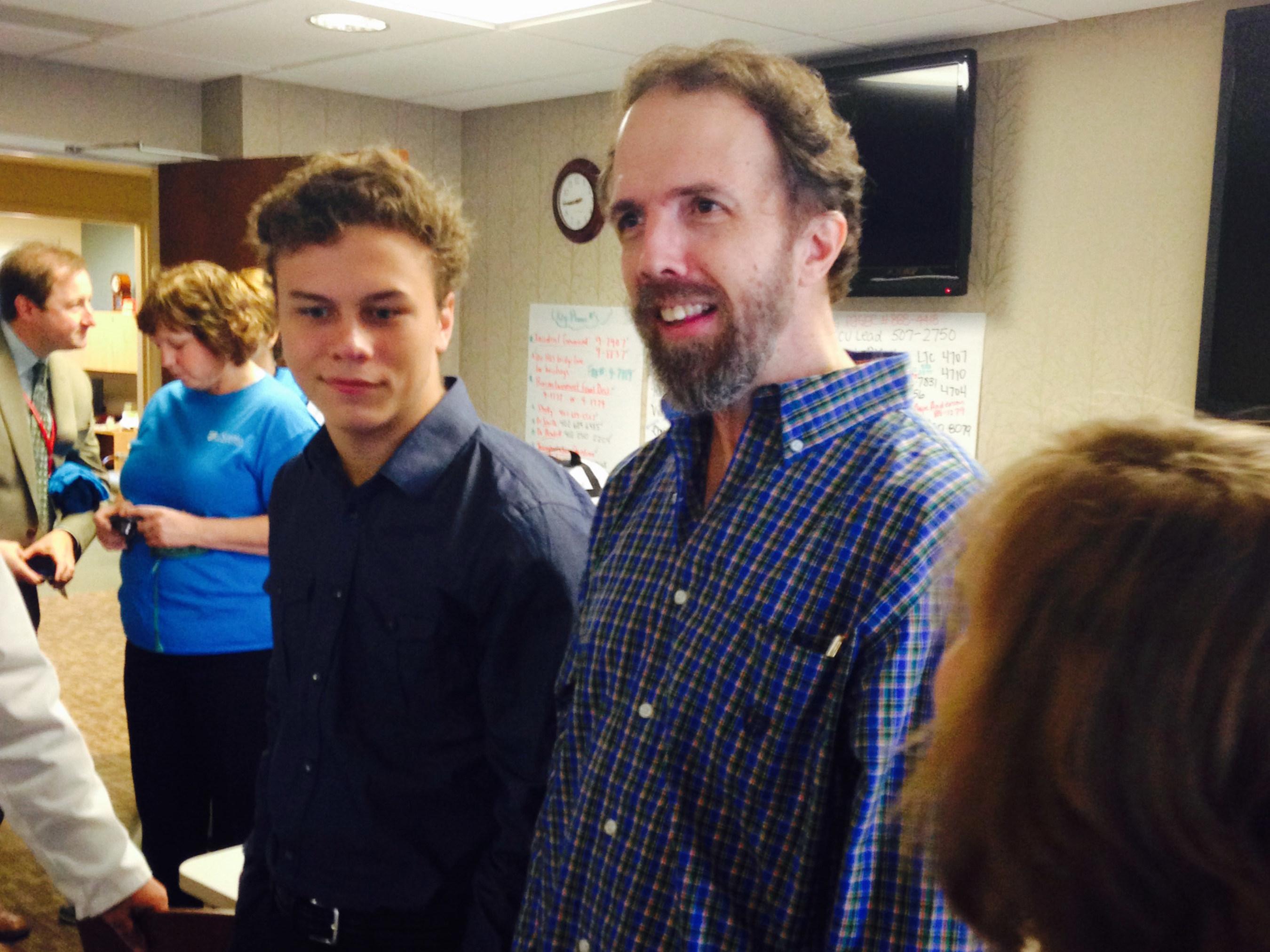 SIM Missionary Dr. Rick Sacra leaves the University of Nebraska Medical Center after successful treatment for ...