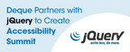 jQuery and Deque partner to present a JavaScript Accessibility Summit. (PRNewsFoto/Deque Systems)