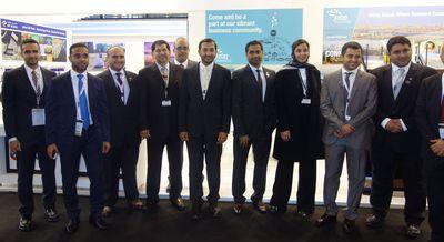 HE Abdullah Al Saleh, Under Secretary, Ministry of Economy with Jafza Team (PRNewsFoto/Jafza)