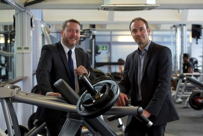Mark Brown and Simon Ginders Coxhall inspect the new gym at Haverhill Leisure Centre. Savings generated by EuroSite Power's on-site utility solution helped pay for the new addition to the Haverhill facility.