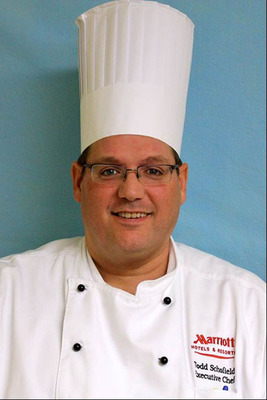Todd Schofield has joined the Westfields Marriott Washington Dulles as executive chef. Schofield said he believes flexibility will be the key to providing creative and customized cuisine for the diverse guests who enjoy the hotel's famous weekend brunch at Palm Court, dinner at Wellington's, lunch for a corporate retreat or a sit-down dinner for a gala wedding in the 9,109-square-foot Grand Dominion Ballroom. For information, visit www.WestfieldsMarriott.com or call 1-703-818-0300.  (PRNewsFoto/Westfields Marriott Washington Dulles)