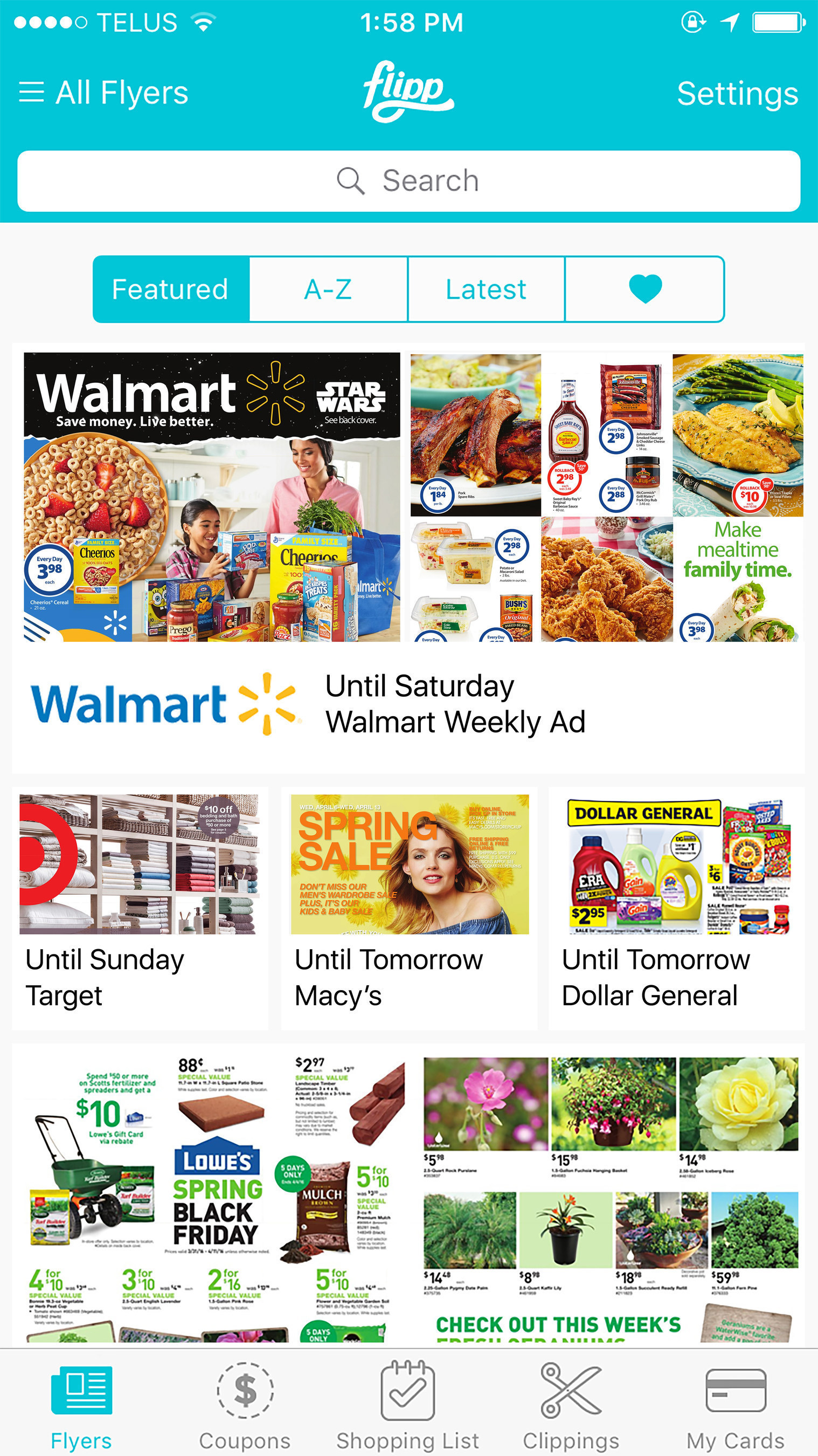 The Flipp app is a destination for millions of consumers to access digital circulars, enabling shoppers to save 20 to 40 percent on their weekly shopping trips.