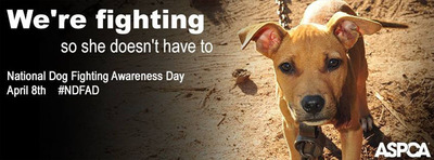 The ASPCA encourages the public to change their Facebook cover photo to the attached image to support National Dog Fighting Awareness Day.  (PRNewsFoto/ASPCA)