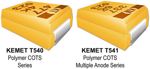 KEMET T540 and T541 Polymer COTS Capacitors.  (PRNewsFoto/KEMET Corporation)