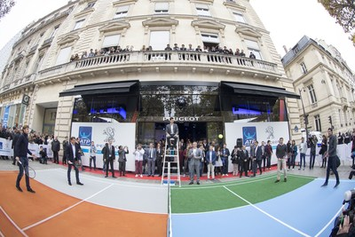 PEUGEOT and ATP Announce Global Partnership (PRNewsFoto/Peugeot and ATP) (PRNewsFoto/Peugeot and ATP)
