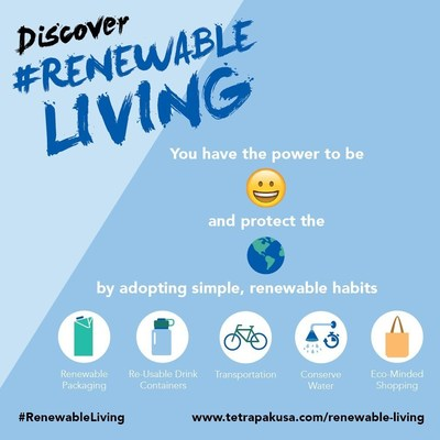Tetra Pak is inviting people to find joy in protecting the planet's resources with the #RenewableLiving Challenge that encourages participants to adopt simple, renewable habits every day over a 28-day period.
