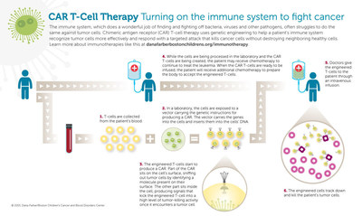 To view an interactive version of this graphic and get embed codes to include it in your copy, visit: https://dl.dropboxusercontent.com/u/1995996/DF-BC/CAR_T-cell_immunotherapy_for_cancer.html