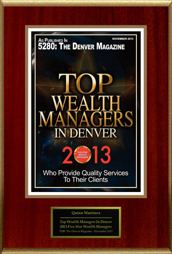 "Quinn Martinez Selected For ""Top Wealth Managers In Denver"".  (PRNewsFoto/American Registry)"