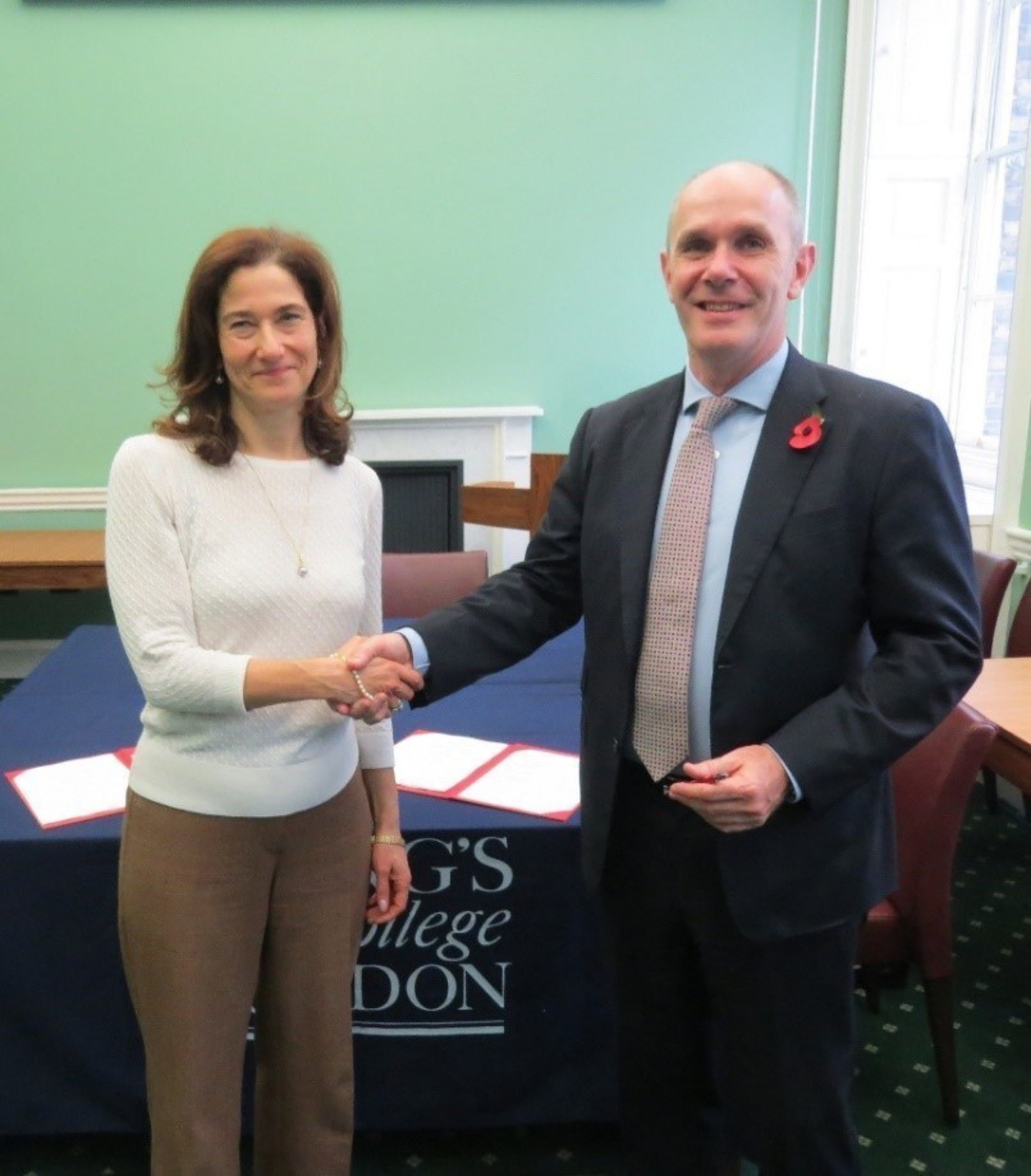 Dr Joanna Newman MBE, Vice Principal (International) King's College London and Andrew Fitzmaurice, CEO, Nord Anglia Education