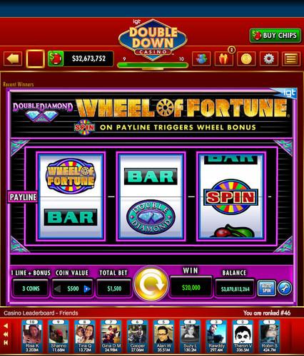 double down casino wheel of fortune double diamond