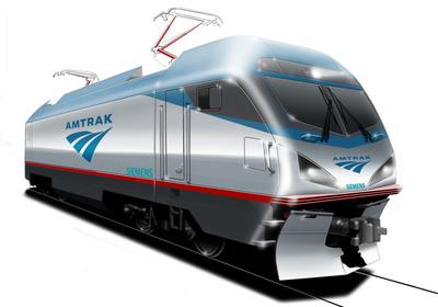 Artist's rendering of new Amtrak electrical locomotive.  (PRNewsFoto/Amtrak)