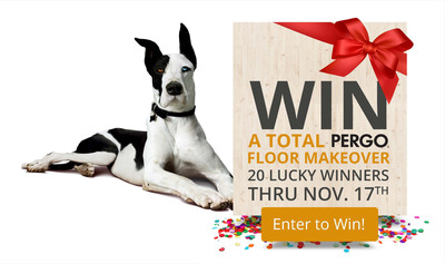 """Pergo, inventor of the laminate flooring category and one of the world's most recognized flooring brands, is awarding 20 lucky winners a """"Complete Flooring Makeover"""" through November 17th. Each prize package is valued up to $3,300 and includes 500 square feet of Pergo laminate flooring, molding, and installation.  Participants may choose from over 100+ eligible Pergo products. Five makeovers will be awarded weekly by random drawing. (PRNewsFoto/Pergo)"""
