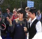 """TWILIGHT'S"" BOOBOO STEWART (Seth Clearwater in The Twilight Saga: Eclipse), right, and his sister, singer/actress FIVEL STEWART, left, helped raise more than $50,000 for national nonprofit America's Toothfairy on the red carpet at TEEN CHOICE 2010. Celebrities earned $1,000 for the charity by flashing their smile on the red carpet. In addition, five Invisalign Teen treatments have been donated to underserved youth in the Los Angeles area. Check out all the caring celebrity smiles and exclusive interviews at www.facebook.com/invisalignteen.(PRNewsFoto/Invisalign Teen)"
