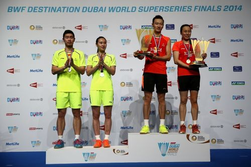 Zhang Nan,Zhao Yunlei win Mixed doubles (PRNewsFoto/BWF DESTINATION DUBAI)