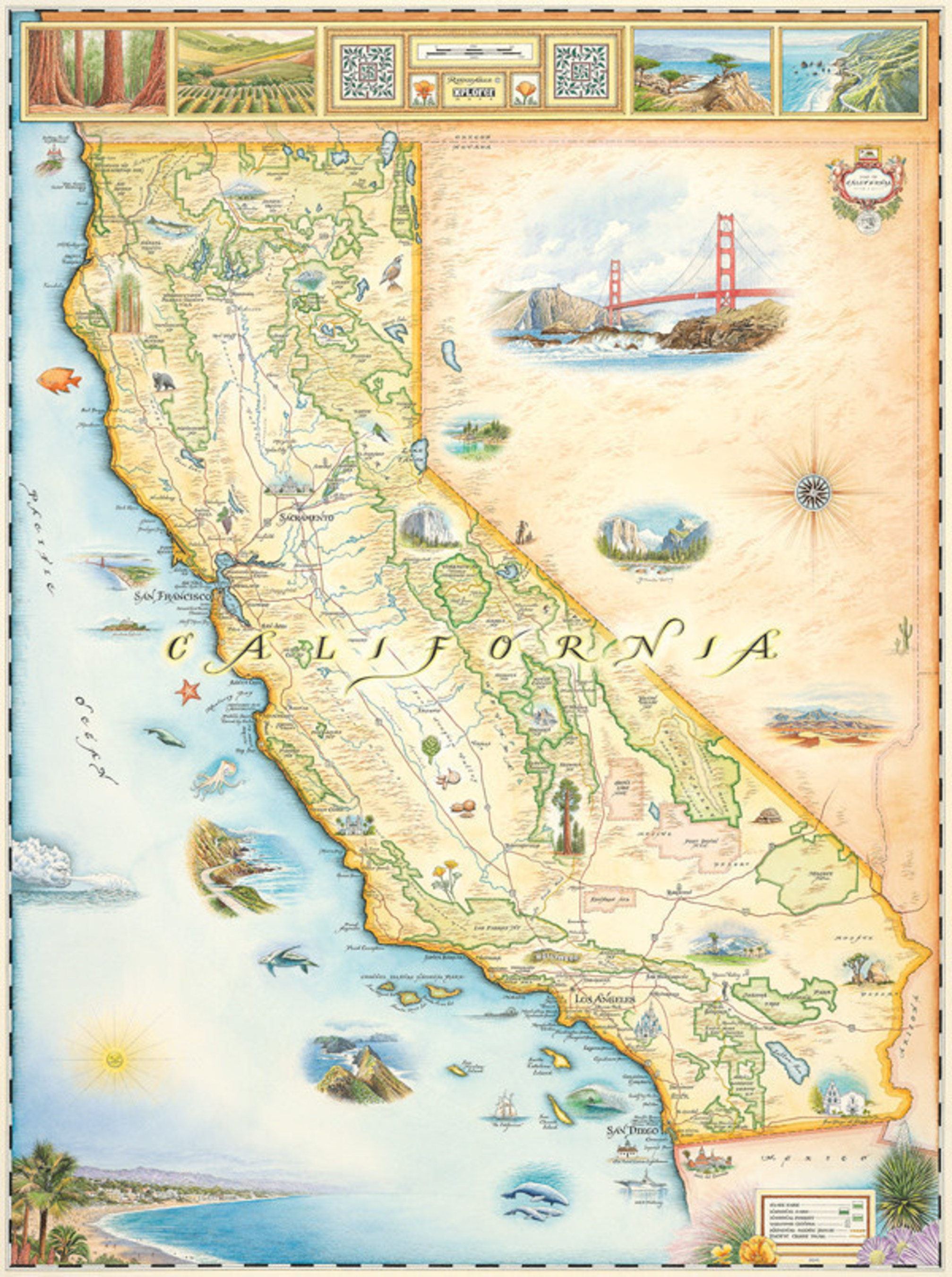 Xplorer Maps Announces the Release of 'CALIFORNIA: The Golden State'