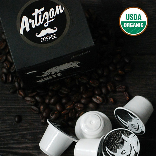 Artizan Coffee White Rhino Signature Blend - 100% Organic Specialty Coffee in a Nespresso Compatible Pod (PRNewsFoto/Artizan Coffee Company)