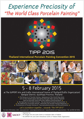 Thailand International Porcelain Painting Convention 2015: TIPP 2015