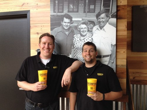 Jason Irvine and Craig Southerland inside their new Dickey's Barbecue Pit in Ferndale. Grand opening kicks ...