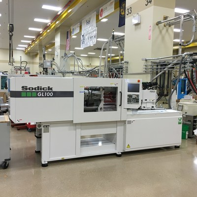 One of HTI Plastics' two new injection-molding presses