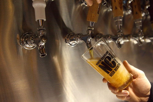 Celebrating the inaugural North Carolina Beer Month this April, the state toasts brewmasters and beer tourism ...