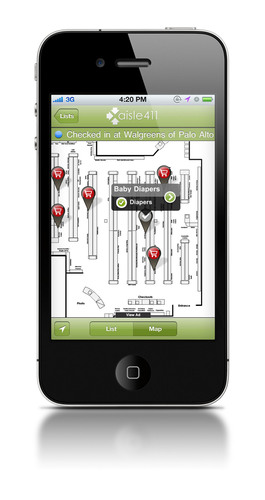 aisle411 helps you map your shopping list with indoor maps and product search.  (PRNewsFoto/aisle411)