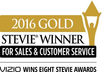 VIZIO Earns Eight Stevie Awards Recognizing Customer Service Excellence. Total Stevie Awards for VIZIO Climbs to 48 Since 2012!
