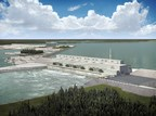Initial rendering of the Keeyask Generating Station in Manitoba, Canada. Voith Hydro will design, supply, and install seven new hydroelectric vertical propeller turbine generator units at the station. (Picture Source: Manitoba Hydro) (PRNewsFoto/Voith)