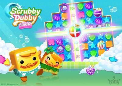 Scrubby Dubby Saga - Key Art (PRNewsFoto/King Digital Entertainment plc)