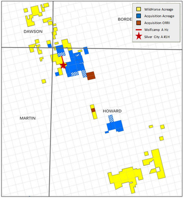 CPE Acreage Map including acquired acreage in Howard County within the Midland Basin of the Permian basin