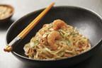 Peanut Butter Noodle Nests with Spicy Orange Shrimp