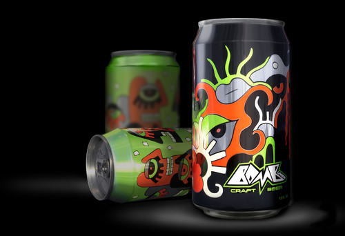 """Bomb Lager craft beer has launched in """"artistic"""" 12 oz. cans from Rexam.  (PRNewsFoto/Rexam)"""
