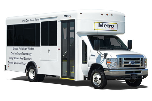 MetroLink from Winnebago Industries, Inc. on display at BusCon Expo 2013 in Chicago September 10-11, 2013. ...