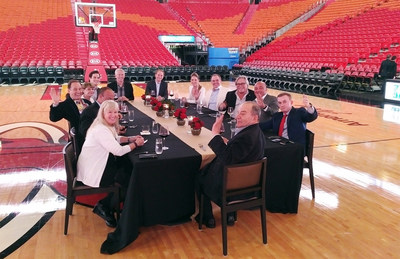 FCCA Platinum Members enjoy dinner at the American Airlines Arena, as part of a partnership with the Miami Heat and the FCCA Foundation.