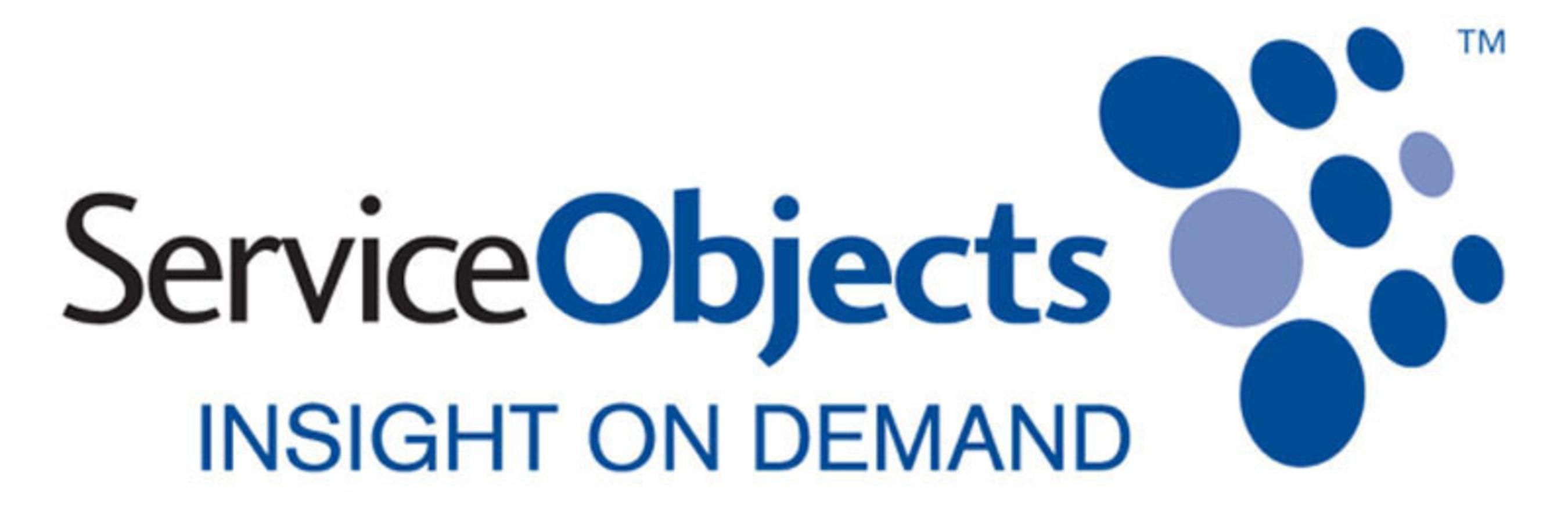 Service Objects Logo. (PRNewsFoto/Service Objects) (PRNewsFoto/SERVICE OBJECTS)