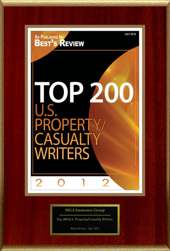"MGA Insurance Group Selected For ""Top 200 U.S. Property/Casualty Writers"".  (PRNewsFoto/MGA Insurance Group)"