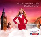 Virgin Atlantic's Red Hot Reporter will go to the NFL International Series game.  (PRNewsFoto/Virgin Atlantic Airways, Ltd)