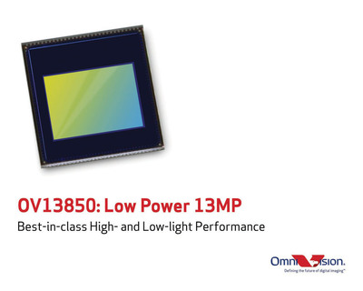 OmniVision's OV13850 delivers best-in-class high- and low-light performance.  (PRNewsFoto/OmniVision Technologies, Inc.)