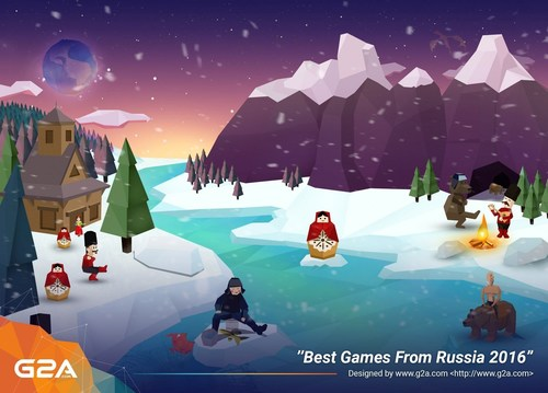 """G2A launches """"Best Games From Russia 2016"""" (PRNewsFoto/G2A.com)"""