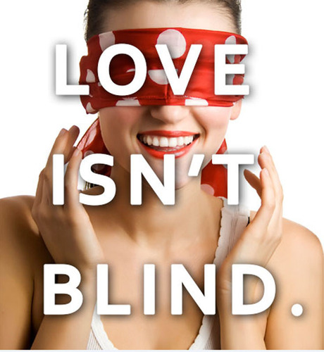 Love Isn't Blind. (PRNewsFoto/Charade Date) (PRNewsFoto/CHARADE DATE)