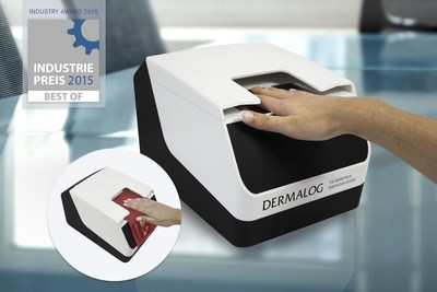 DERMALOG VF1: the first combined scanner in the world which scans both passports and fingerprints on the same scanning surface. (PRNewsFoto/DERMALOG Identification Systems)