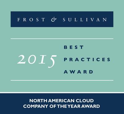 Frost & Sullivan recognizes CenturyLink with the 2015 North America Frost & Sullivan Company of the Year Award. (PRNewsFoto/Frost & Sullivan)